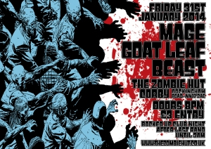 Zombie Hut Flyer January 31st