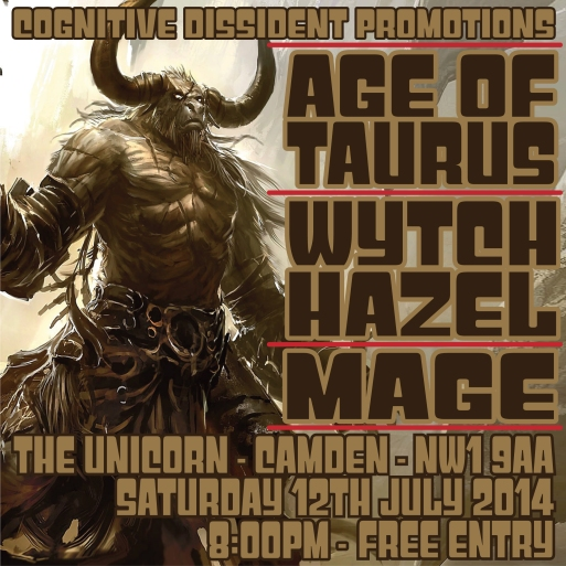 Gig 45 - 12th July 2014 - The Unicorn - Camden