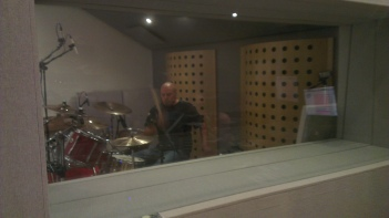 Andy, Day 1 drum tracking.